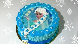 Торт Эльза Холодное Сердце Кремовые торты для детей  Cake Elsa Cold Heart