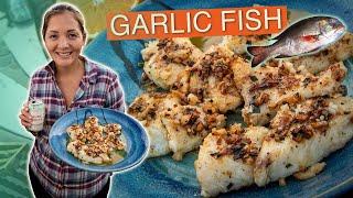 Sautéd mu- Hawaiian fish with orange juice and crispy garlic - Recipe with Kimi Werner