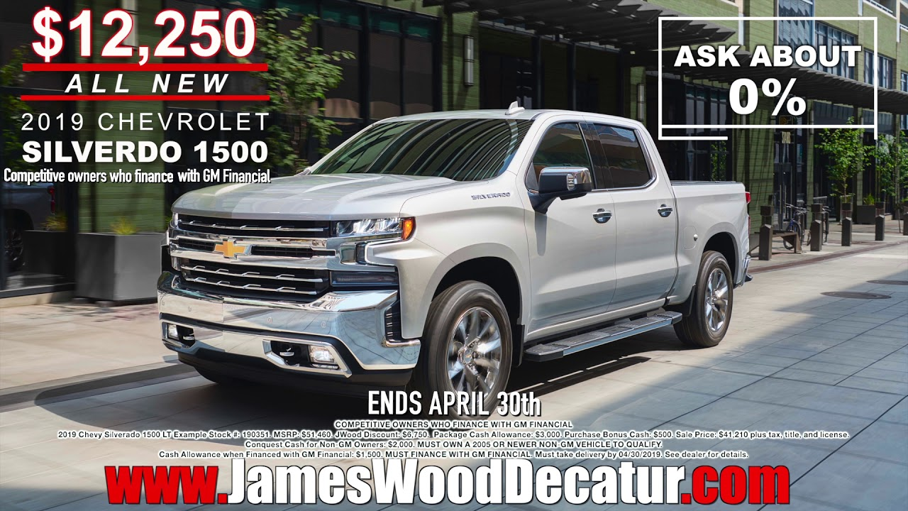 James Wood Chevrolet >> Chevy Truck Sale Month At James Wood Motors In Decatur Texas Youtube