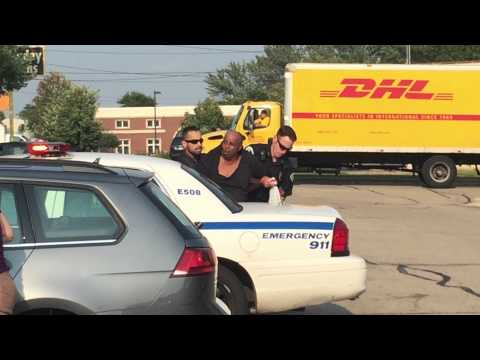 POLICE IS ARRESTING MAN IN MADISON WISCONSIN