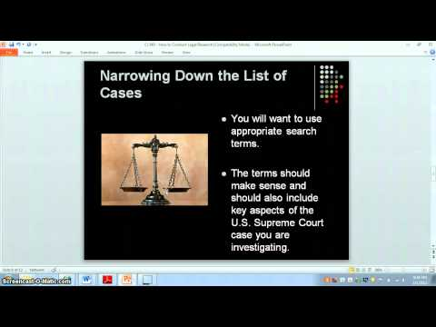 How to Conduct Legal Research