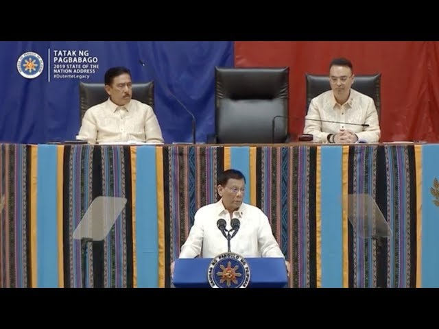 Highlights of Duterte's 4th State of the Nation Address