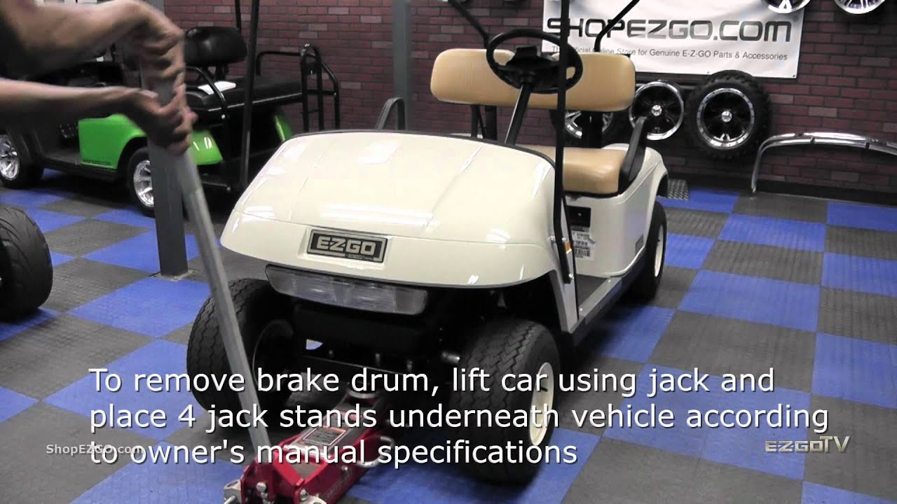 small resolution of ezgo brake drum installation how to install golf cart brake drums