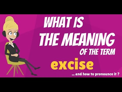 What is EXCISE? What does EXCISE mean? EXCISE meaning, definition & explanation