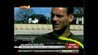Wesley Sneijder Frikik Dersi Veriyor