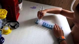 Видеоурок: плетем на станке очень широкий браслет из резинок Rainbow Loom