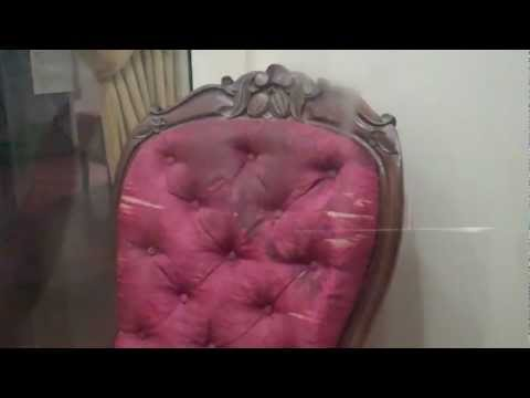 The chair where Lincoln was KILLED displayed at the Henry Ford museum