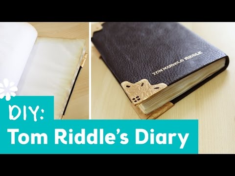 Harry Potter DIY Tom Riddle's Diary | Lauren Fairweather Collab | Sea Lemon
