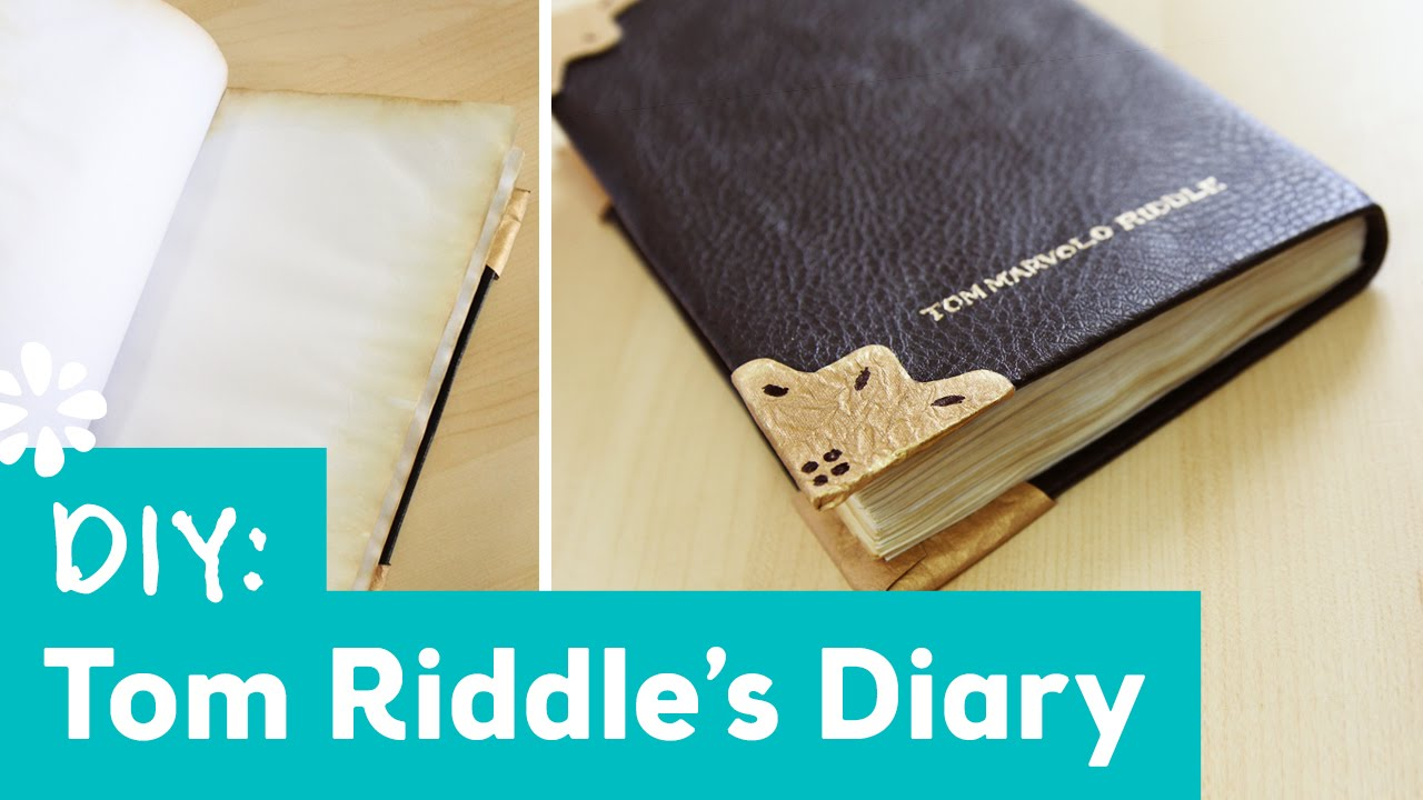 Harry Potter Tom Riddle S Tagebuch Selber Basteln Anleitung