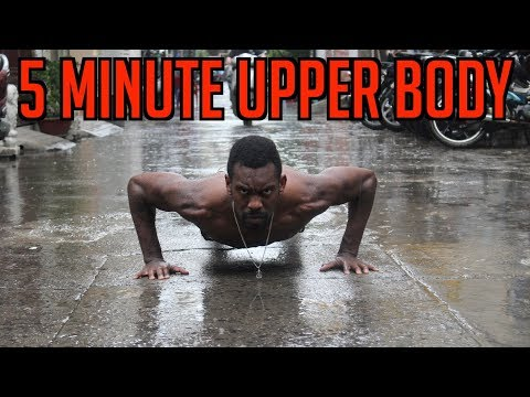 PUSH UPS FOR AN AMAZING UPPER BODY - 5 MINUTE AT HOME FOLLOW ALONG