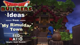 Giant tree creation my Rimuldar town Dragon Quest Builders room design decorations gardens
