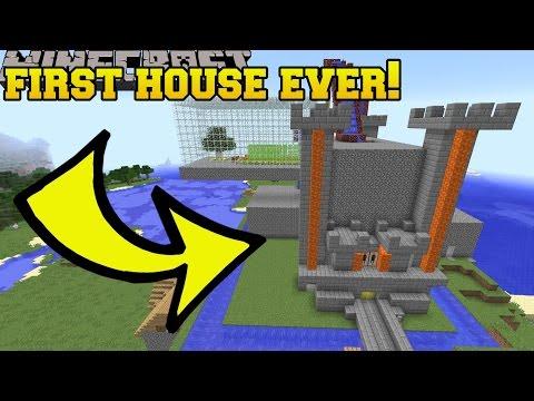 FIRST MINECRAFT HOUSE I EVER BUILT!!!
