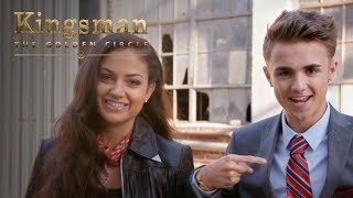 Kingsman: The Golden Circle | Jake Mitchell and Inanna Sarkis Attempt Kingsman Level Stunts