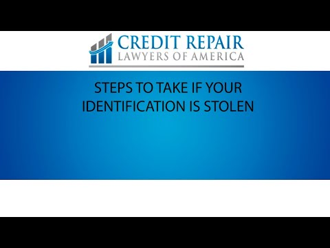 Steps to take if your identity was stolen | My Credit Lawyers of America