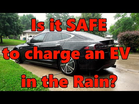 Charging EV In The Rain SAFE? Lets Try!