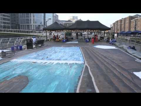 GWR Day 2011: Joe Hill attempts the Largest and Longest 3D painting in London- Part One
