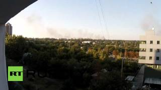 Ukraine: Fresh explosions leave clouds of smoke over Donetsk