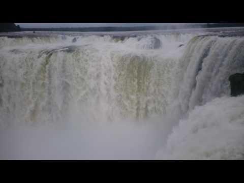 4k  la garganta del diablo, cataratas del Iguazú, Argentina. Iguazú falls, devil's throat.