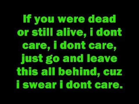 I dont care  Apocalyptica with lyrics