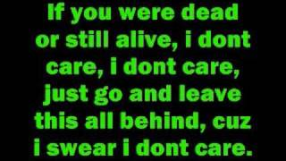 Repeat youtube video I don't care by Apocalyptica with lyrics