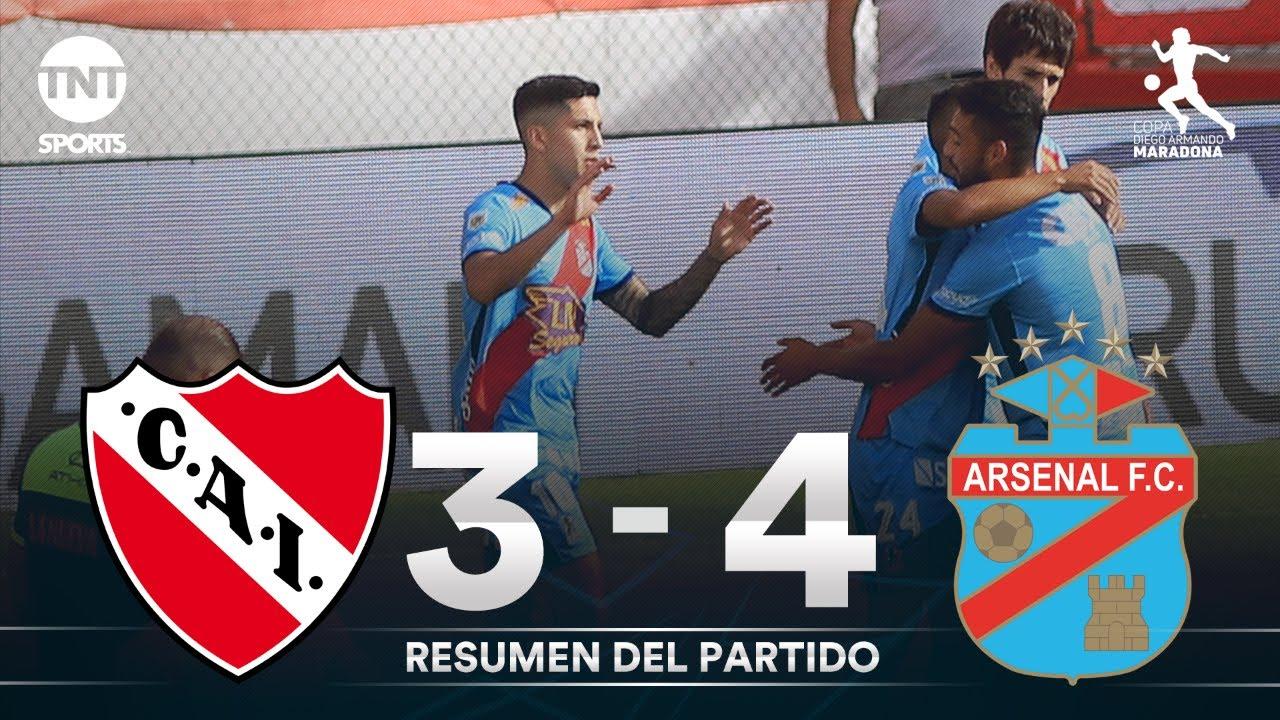 Resumen de Independiente vs Arsenal (3-4)   Fecha 4 Grupo A - Fase Campeón Copa Diego Maradona