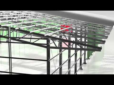 3D View of an Astra Industrial Building | Frisomat - Steel Building Constructions