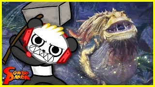Monster Hunter World DEFEAT THE BEAST Let's Play with Combo Panda