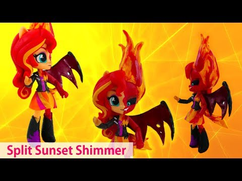 Custom Evil Sunset Shimmer Split Pony Equestria Girls Minis Doll Transformation