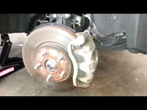 2011 Honda CR-V SUV - Checking Front Brake Pads @ 50,000 Miles