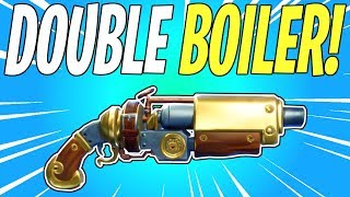 NEW Double-Barreled Steampunk Shotgun! Double Boiler Weapon Review   Fortnite Save The World