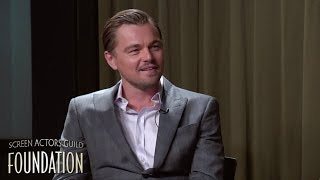 Leonardo DiCaprio speaks about working with Larry Moss