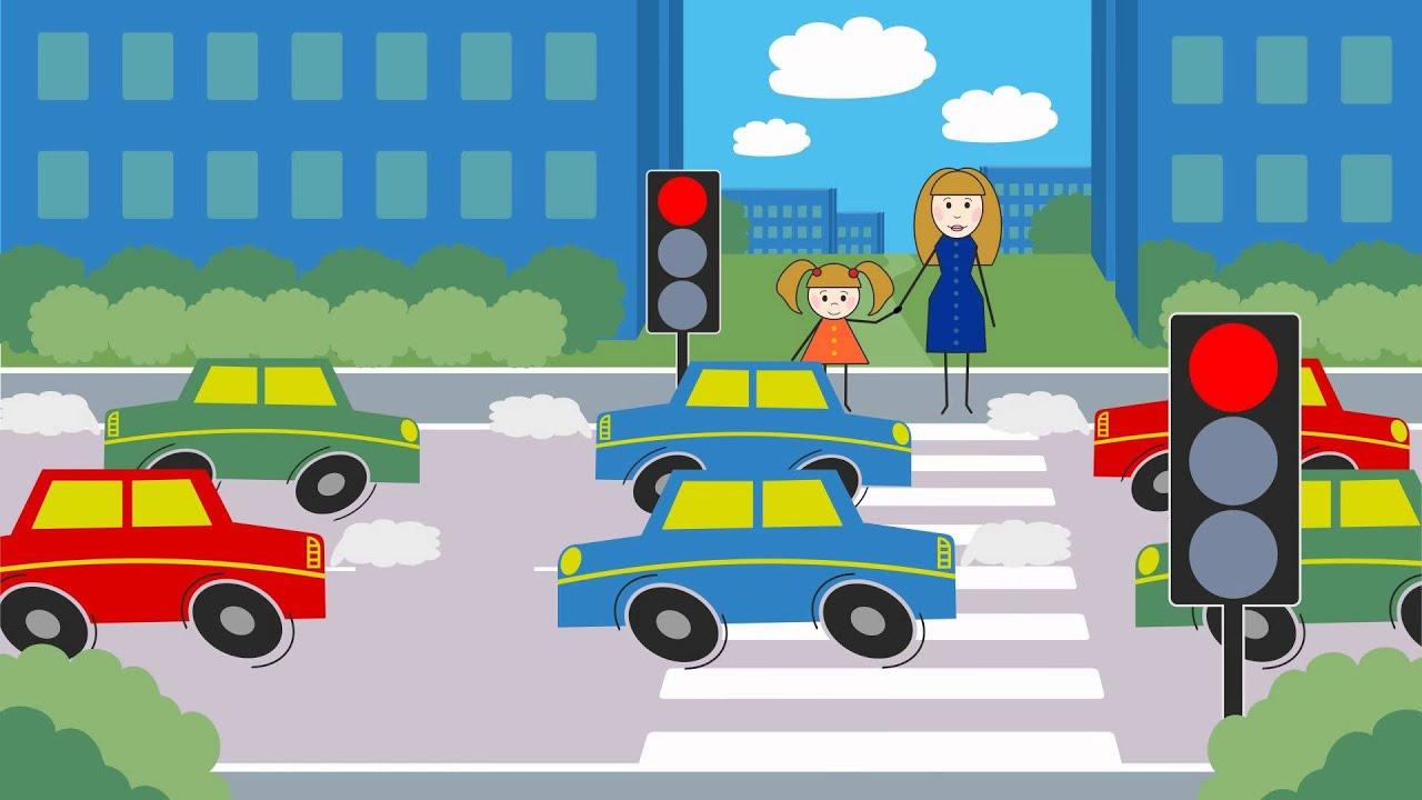 Светофор Мультфильм по правилам дорожного движения - YouTube