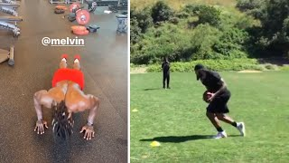Keenan Allen Gets Workout WIth Melvin Gordon Then Gets Some Routes In On The Field