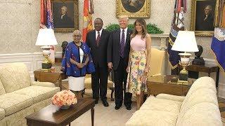 President Trump and the First Lady Welcome President Kenyatta and Mrs. Kenyatta