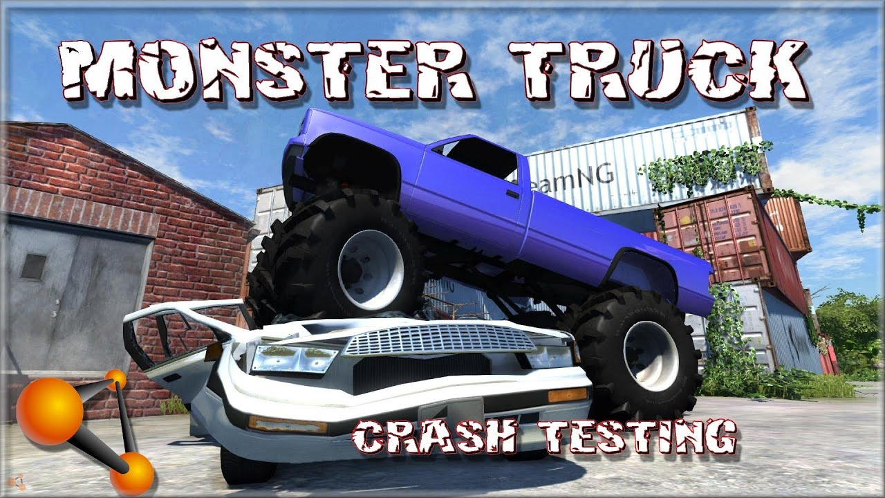 Beamng Drive Monster Truck Crash Testing Youtube