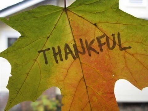 """THANKFUL LIVING"" 11/22/15"