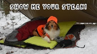 Winter Camping Under A Tarp - Show Us Your Steak