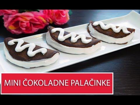 Mini čokoladne palačinke punjene šlagom