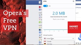 Get a Free VPN with Opera's Newest Developer Build [How-To](How to Enable the Free VPN Service in the Opera Browser Full Tutorial: http://bit.ly/vpnopera Subscribe to Gadget Hacks: http://goo.gl/XagVI In this video, I'll be ..., 2016-04-22T18:24:57.000Z)