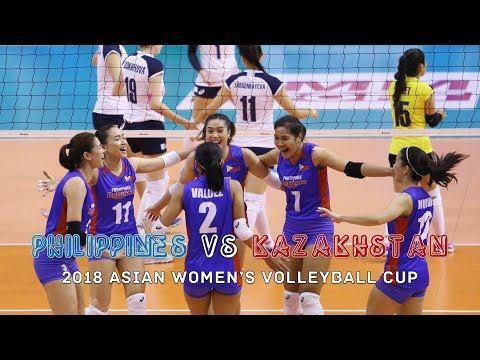 Philippines Vs Kazakhstan Volleyball Highlights - AVC Cup 2018