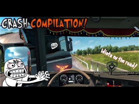 Euro Truck Simulator 2 Multiplayer | Funny Moments & Crash Compilation! #21