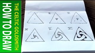 How to draw Celtic Knots 1 - The Celtic Triskele