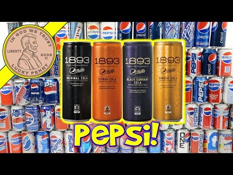 1893 Pepsi Cola Black Currant, Citrus, Ginger - Huge Pepsi Can Collection!
