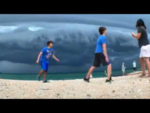 Watch storm roll in over Lake Michigan near Glen Arbor