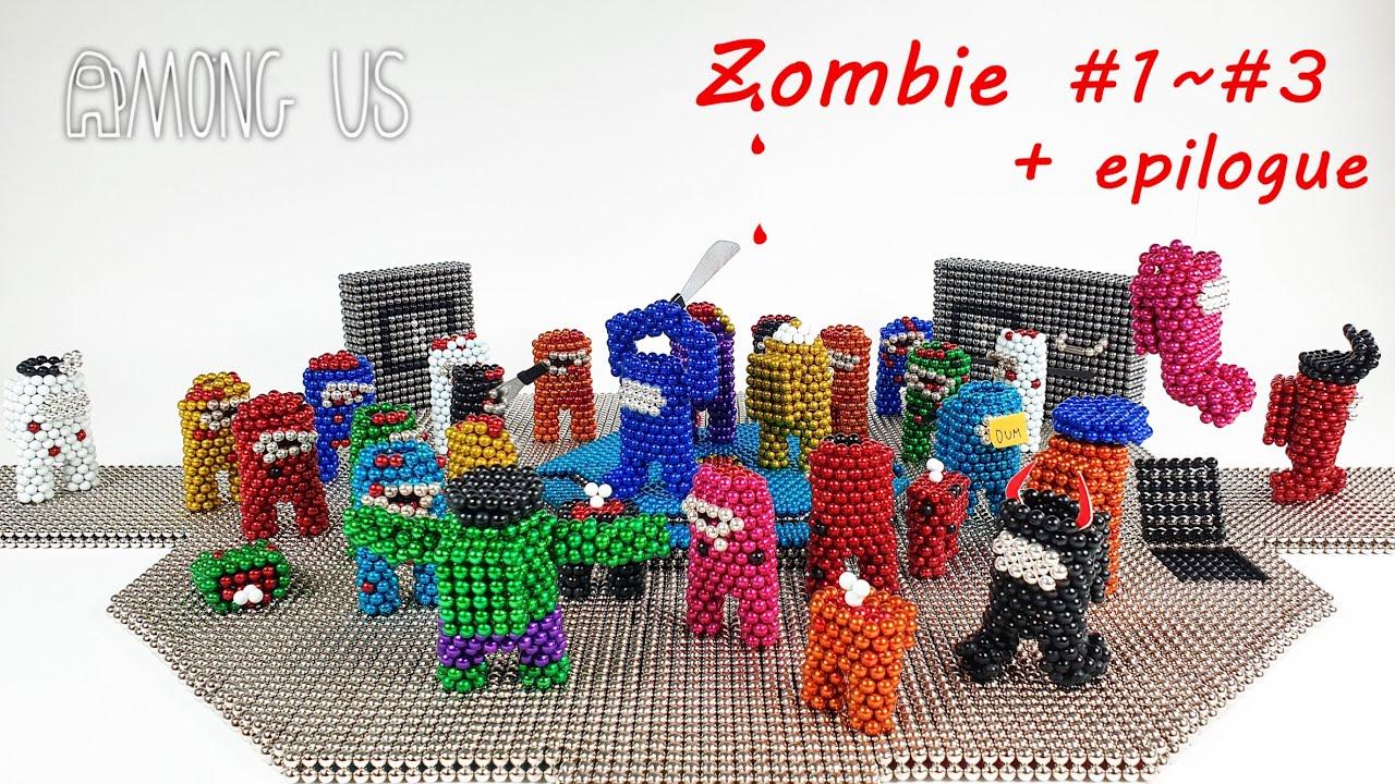 Magnetic Among Us Zombie Stop Motion EP1 ~ EP4 어몽어스 좀비 풀스토리