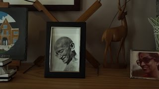 Gandhi gives his grandson The Gift of Anger