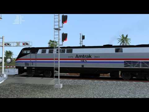 Train Simulator 2015: Amtrak Viewliner Train Departing West Plam Beach