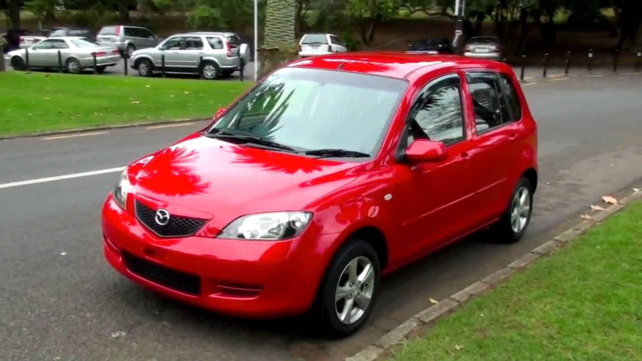 Mazda 2 Hatchback >> Mazda Demio 2003, 70K, 1.3L, Auto - Scarlet Red - YouTube