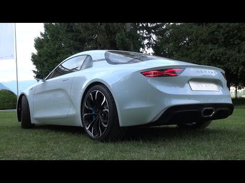 Alpine A110 Vision Concept SOUND - Start Up, Revs, Overview & Driving!