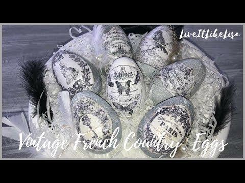 EASTER DIY DECOR | Vintage Easter Eggs